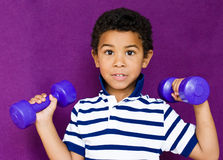Boy and sport Stock Image