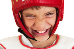 Boy in the sports form Stock Photos