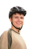Boy in sports helmet Royalty Free Stock Images