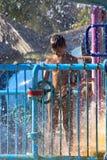 Boy in a spray Stock Image