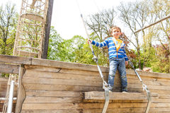 Boy in the spring park, Luxembourg Royalty Free Stock Images