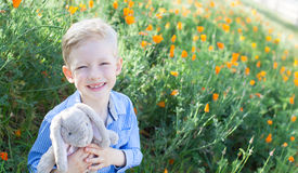 Boy at spring Royalty Free Stock Images