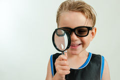 Boy spy Stock Image