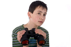 Boy with a Spyglass Royalty Free Stock Photo