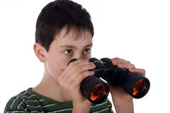 Boy with a Spyglass Royalty Free Stock Photography