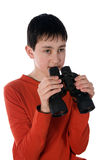 Boy with a Spyglass Stock Photography