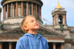 Boy in St.Petersburg Stock Photo