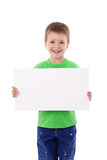 Boy standing with empty blank Stock Photos