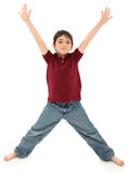 Boy Standing in Letter X Pose Stock Photography