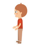 Boy standing looking aside  icon design. Vector illustration  graphic Stock Image