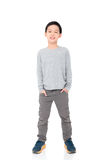 Boy standing over white background Stock Image