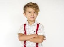 Boy Standing Portrait Studio Shoot stock photos