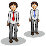 Boy standing vector illustration Royalty Free Stock Photos