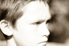 Boy staring Royalty Free Stock Photo