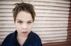 Boy Staring Blankly Stock Photography