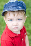 Boy staring at the camera Stock Image