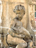 Boy statue fountain Stock Image