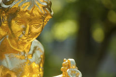 Boy statue in Katzscher garden, Gernsbach, Black Forest Stock Images