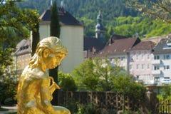 Boy statue in Katzscher garden, Gernsbach, Black Forest Stock Photo