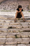 Boy on the steps Stock Images