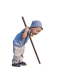 Boy with stick Stock Images