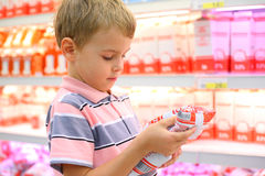 Boy in store Royalty Free Stock Images