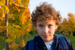 Boy in the street Royalty Free Stock Photo