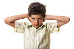 Teen kid child stress noise Stock Image