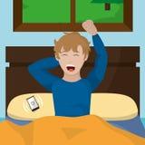Wake up design. Boy stretching of wake up morning awake and routine theme Vector illustration Royalty Free Stock Photography