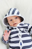 Boy in striped blouse Stock Photos