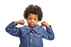 Boy strongman Royalty Free Stock Images