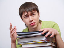 boy of the student with books Stock Image