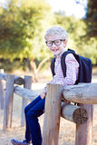 Boy student in glasses Stock Photos