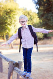 Boy student in glasses Stock Photo