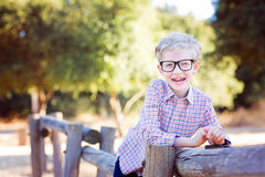Boy student in glasses Stock Image
