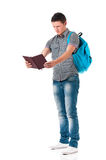 Boy student with notepad Stock Photo