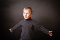 Boy in Studio Stock Image
