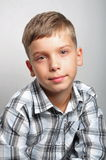 Boy in the studio Stock Photo