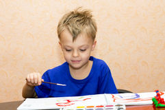 Boy in the studio Royalty Free Stock Photography