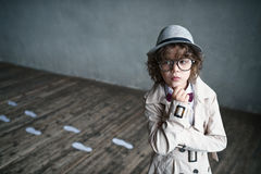 Boy in studio Royalty Free Stock Photography