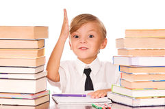 Boy studying Stock Photo