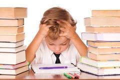 Boy studying Stock Images