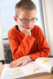 Boy studying. Stock Photo