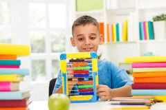 Boy studying math Royalty Free Stock Images