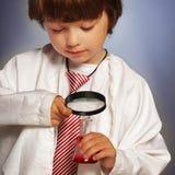 Boy studying Stock Photo