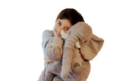 Boy with stuffed toy Royalty Free Stock Photos