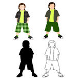 Boy Styles Set 01 Royalty Free Stock Photography