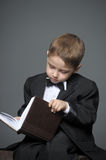 Boy in a suit Royalty Free Stock Photography
