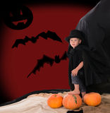Boy in suit of count Dracula on halloween Stock Photo