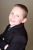 Boy in suit or school uniform Stock Photography